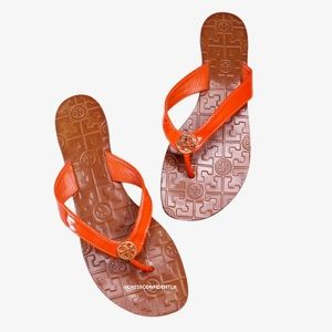 Tory Burch Thora Leather Thong Sandals